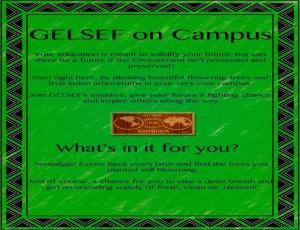 Gelsef on campus